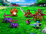 Fighting monsters in Grand Summoners