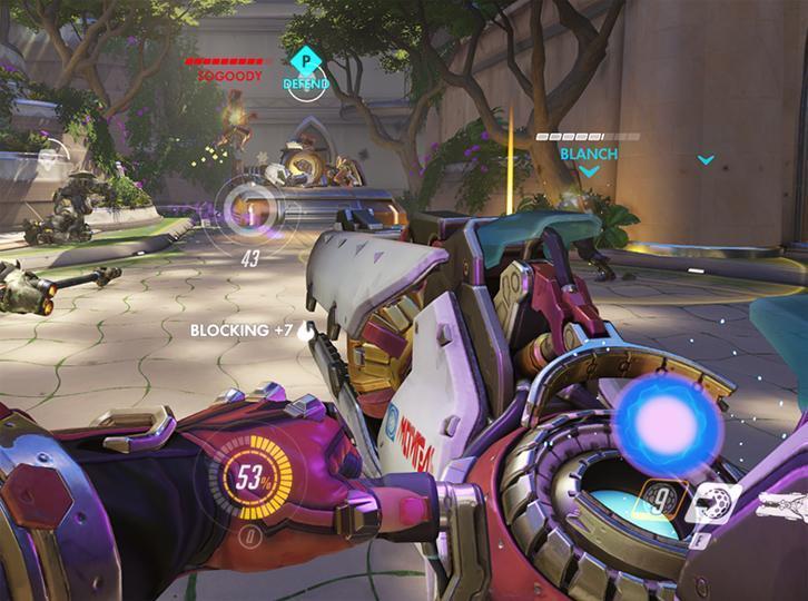 Defending the lane in Overwatch