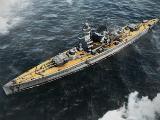 Battleship at sea in Navy Field 2