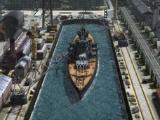 Docked battleship in Navy Field 2