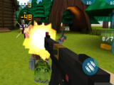 Fighting zombies in Arena mode in Mad GunZ