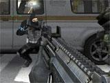 Combat Arms taking cover behind a van