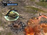 War Commander: Rogue Assault destroying an enemy base
