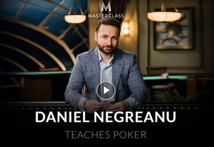 Learn Poker with Daniel Negreanu on Masterclass