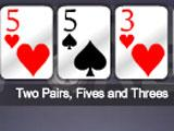 Ultra Poker HD winning hand