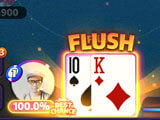 Mega Hit Poker: A flush