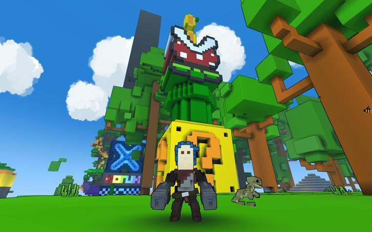 Mario-inspired creation in Trove