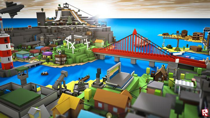 Beautiful city in Roblox