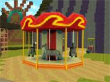 Building in Theme Park Craft: Build & Ride