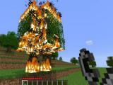 Burning a tree in TrueCraft