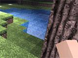 Cubes Craft: Block Planet night time exploration