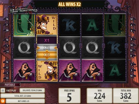 Free Spins on the 3 Musketeers Machine