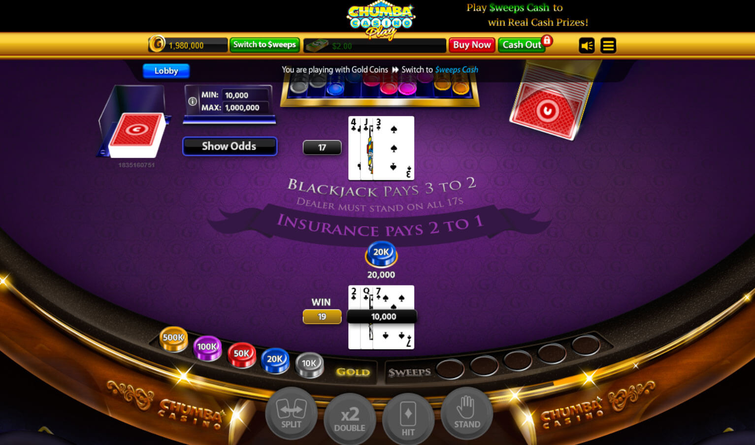 Chumba Casino - Get $2 FREE Sweeps Cash Promotion - Free Slots