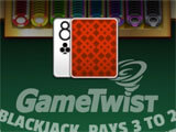 GameTwist Slots playing a round of blackjack