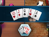 Multiple rooms in HD Poker: Texas Hold'em