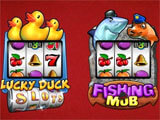 Lucky Duck Slots choosing a slot machine