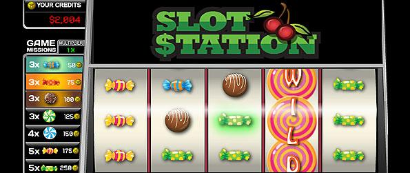 Slot Station - Enjoy a stunning slots game with a variety of beautifully animated slots machine handing out hefty sums of payouts.