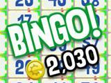 Vegas World bingo cards with a win