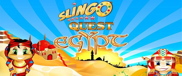 Slingo Quest Egypt - Travel to Egypt as you get challenged by a unique board game in Slingo Quest Egypt.