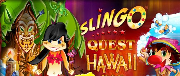 Slingo Quest Hawaii - Match numbers in the wheel and in the card to achieve slingos!