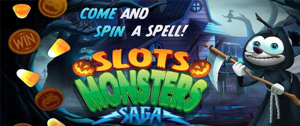 Slots Monsters Saga - It is never just the Halloween season to get you enjoying some really spooky-themed casual gaming treats with Bee Cave's newest slots game, Slots Monsters Saga.