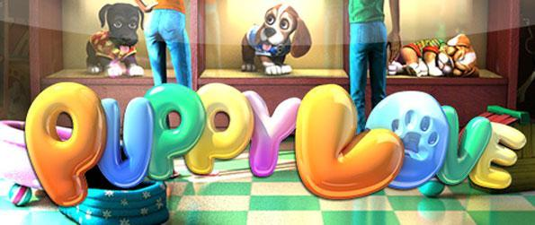 Puppy Love Slots - Enjoy a stunningly animated 3D slots machine full of cute puppies to spin.