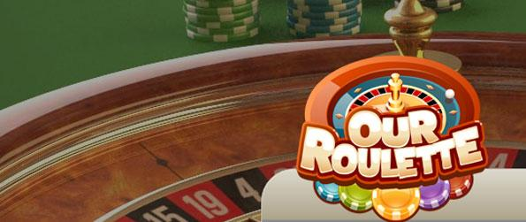 Our Roulette - Bet on the different spots in the table and see if you win.