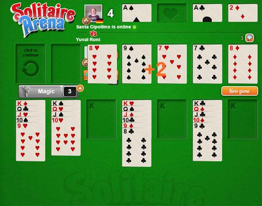 The Action of Solitaire Arena