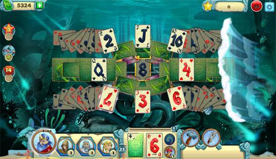 Amazing new Patterns in Solitaire Atlantis