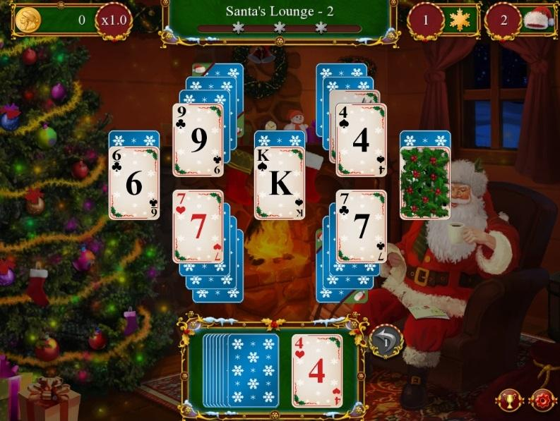 Christmas Solitaire Freecell.Santa S Christmas Solitaire Solitaire Games Online