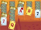 Solitaire Match 2 Cards Thanksgiving Day: Gold cards
