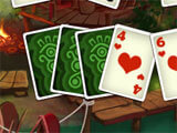 Rainforest Solitaire 2 Four of Hearts