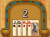 Many levels to play in Egypt Pyramid Solitaire