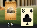 Card in hand in Ancient Rome Solitaire