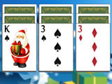 Starting a new game in Christmas Solitaire