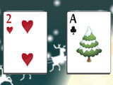 Christmas Solitaire: Collect cards to the top