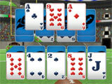 Touch Down Football Solitaire gameplay