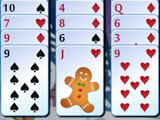 Freecell Christmas H5: Starting a new game