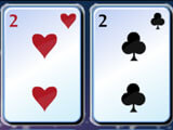 Sending cards to the top in Freecell Christmas H5