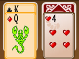 Arranging cards in Scorpion Solitaire H5