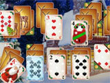Santa's Christmas Solitaire 2 snowball fight mini-game
