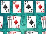 Gameplay of La Belle Lucie, with all 4 aces filled