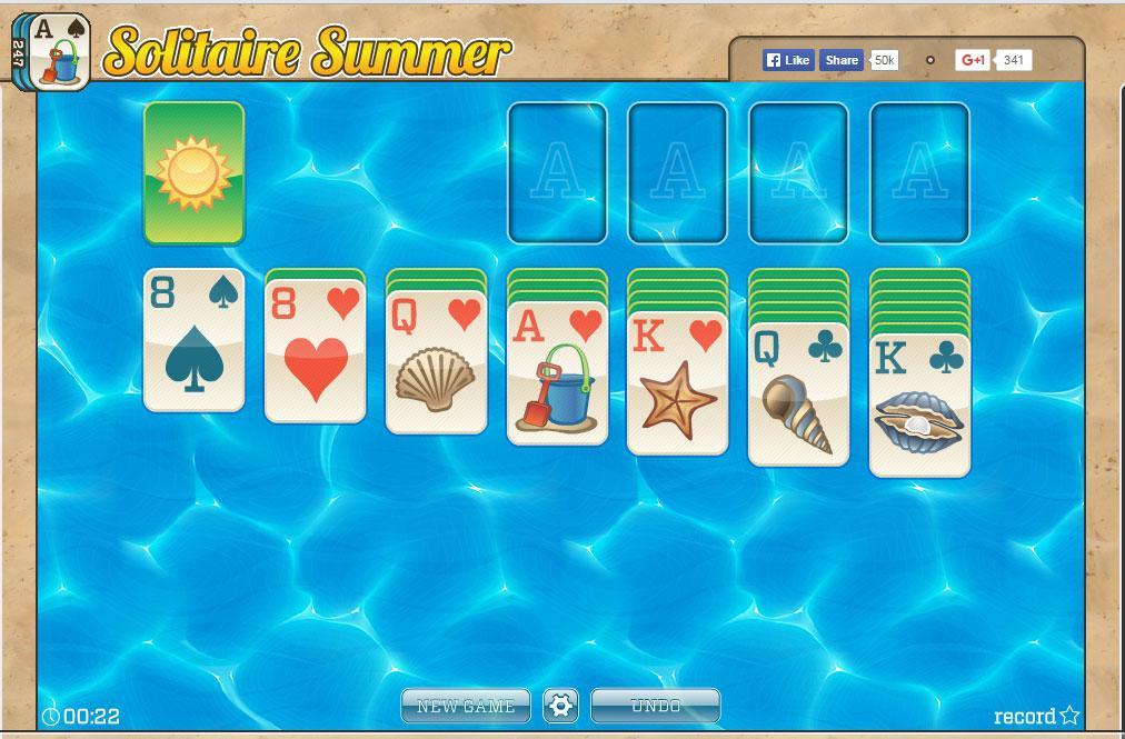 Summer Solitaire - Online pasziánsz játékok