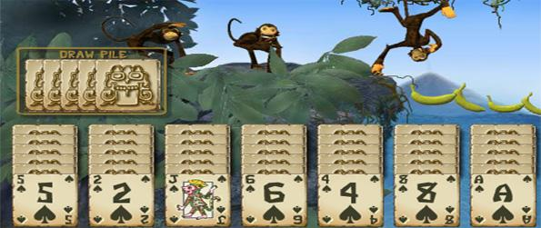 Spider Monkey Solitaire - Help the monkey's by winning Solitaire games in this free Browser Game.