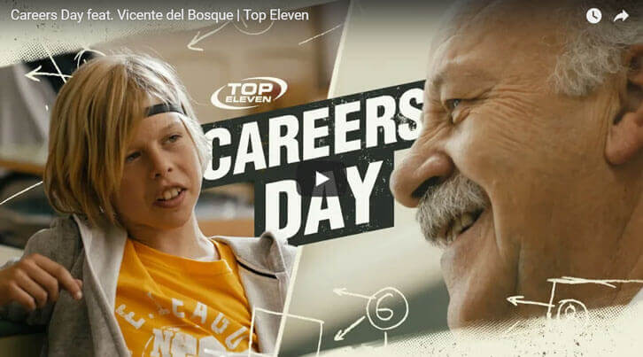 Vicente del Bosque Shines in Latest Top Eleven Trailer – Careers Day