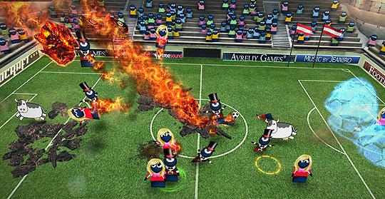 Summon Meteors Over the Soccer Fields in FootLOL: Epic Fail League