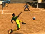 Shooting a goal in Pele: Soccer Legend