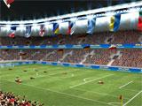 Ball 3D: Soccer Online crowd cheering on