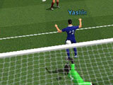 Scoring a goal in IO Soccer