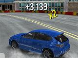 Drift Max City drifting across the track